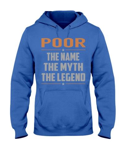 POOR - Myth Legend Name Shirts