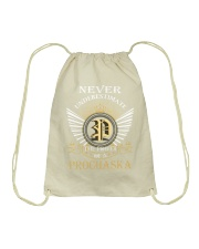 Never Underestimate PROCHASKA - Name Shirts Drawstring Bag thumbnail