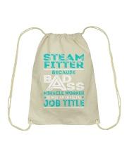 Steam Fitter - Badass Job Title Drawstring Bag thumbnail