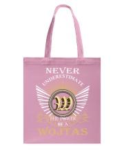 Never Underestimate WOJTAS - Name Shirts Tote Bag thumbnail
