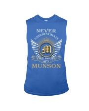 Never Underestimate MUNSON - Name Shirts Sleeveless Tee thumbnail