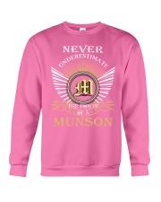 Never Underestimate MUNSON - Name Shirts Crewneck Sweatshirt thumbnail