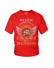 Never Underestimate MUNSON - Name Shirts Youth T-Shirt thumbnail