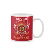 Never Underestimate MUNSON - Name Shirts Mug thumbnail