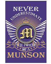 Never Underestimate MUNSON - Name Shirts 11x17 Poster thumbnail