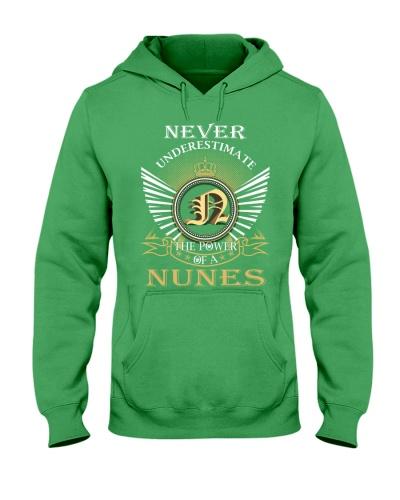 Never Underestimate NUNES - Name Shirts