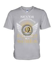 Never Underestimate NUNES - Name Shirts V-Neck T-Shirt thumbnail
