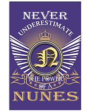 Never Underestimate NUNES - Name Shirts Vertical Poster tile