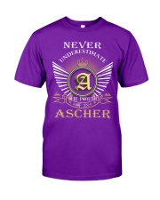 Never Underestimate ASCHER - Name Shirts Classic T-Shirt thumbnail