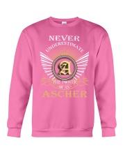 Never Underestimate ASCHER - Name Shirts Crewneck Sweatshirt thumbnail