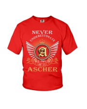 Never Underestimate ASCHER - Name Shirts Youth T-Shirt thumbnail