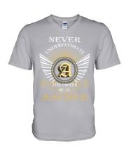 Never Underestimate ASCHER - Name Shirts V-Neck T-Shirt thumbnail