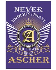 Never Underestimate ASCHER - Name Shirts 11x17 Poster thumbnail