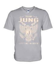 Team JUNG - Lifetime Member V-Neck T-Shirt thumbnail