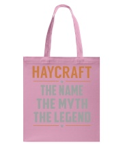 HAYCRAFT - Myth Legend Name Shirts Tote Bag thumbnail
