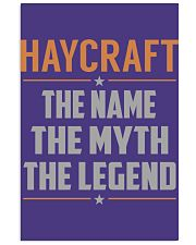 HAYCRAFT - Myth Legend Name Shirts 11x17 Poster thumbnail