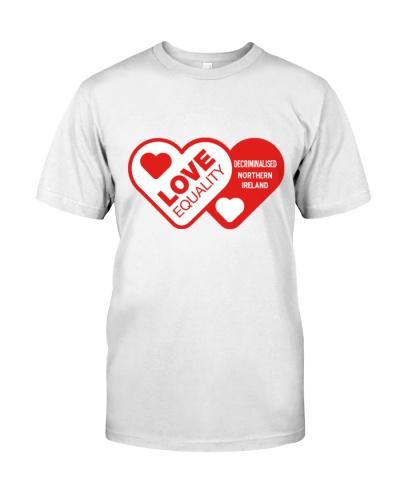 i love equality decriminalised t shirt