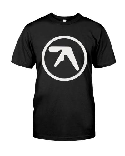 aphex twin logo black shirt