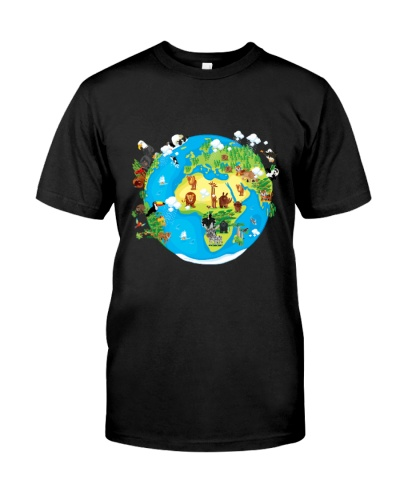 Animals Of The World T Shirt Funny