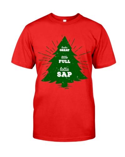 Little Full Lotta Sap Christmas Santa Shirt Funny
