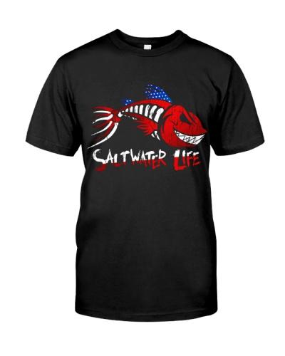 Saltwater Life Fisherman Fishing Shirt