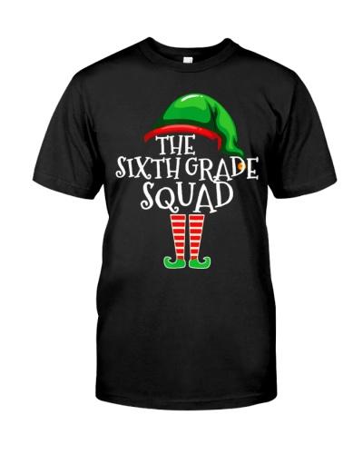 Sixth Grade Elf Squad Christmas Shirt Funny