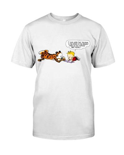 Tiger Calvin and Hobbes T Shirt