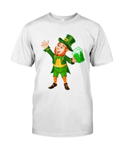St patricks Day Green Beer Leprechaun Shirt