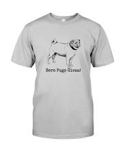 Zero Pugs Given Classic T-Shirt front