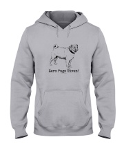 Zero Pugs Given Hooded Sweatshirt front