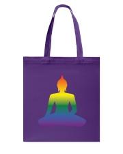 Rainbow Buddha Tote Bag front