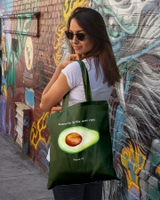 Avocado is the new egg Tote Bag lifestyle-totebag-front-1