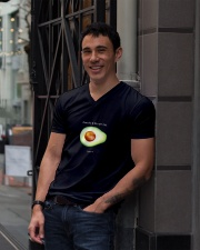 Avocado is the new egg V-Neck T-Shirt lifestyle-mens-vneck-front-1
