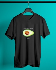 Avocado is the new egg V-Neck T-Shirt lifestyle-mens-vneck-front-3