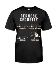 Bernese Mountain Dog Security Funny Dog Classic T-Shirt front