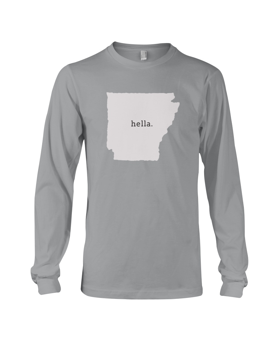 shark tank arkansas hella white Long Sleeve Tee