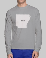 shark tank arkansas hella white Long Sleeve Tee lifestyle-unisex-longsleeve-front-1