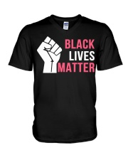 Black Live Matter V-Neck T-Shirt thumbnail