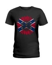 Confederate Battle Flag Ladies T-Shirt thumbnail