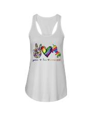 Peace Love Unicorn GLBT Ladies Flowy Tank tile