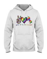 Peace Love Unicorn GLBT Hooded Sweatshirt tile