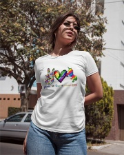 Peace Love Unicorn GLBT Ladies T-Shirt apparel-ladies-t-shirt-lifestyle-02
