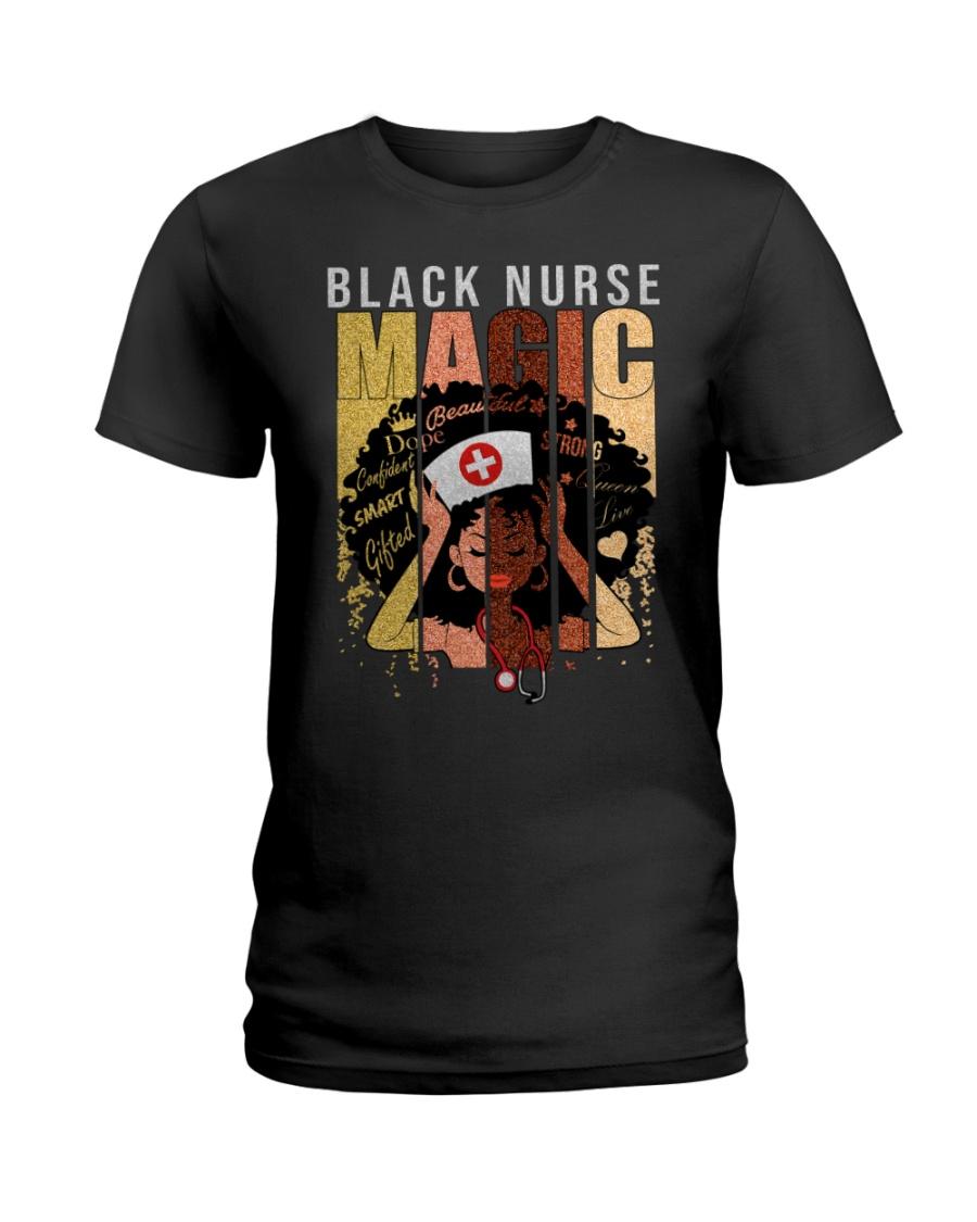 Black Nurse Magic Ladies T-Shirt