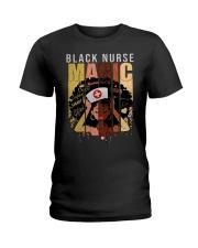 Black Nurse Magic Ladies T-Shirt front