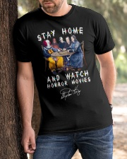 Stay Home - Watch Horror Movies Classic T-Shirt apparel-classic-tshirt-lifestyle-front-51