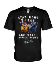 Stay Home - Watch Horror Movies V-Neck T-Shirt thumbnail