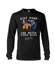 Stay Home - Watch Horror Movies Long Sleeve Tee thumbnail