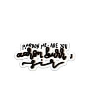 Pardon Me Sticker - Single (Vertical) front