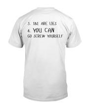 I Know I Swear A Lot Classic T-Shirt back