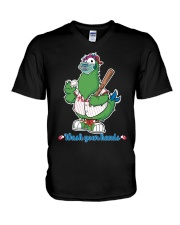 Wash Your Hands Chicken V-Neck T-Shirt thumbnail